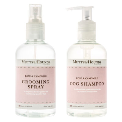 Dogs Grooming Spray & Shampoo Rose Camomile by Mutts & Hounds