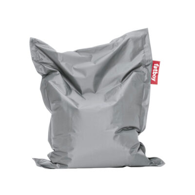 Junior silver beanbag by Fatboy