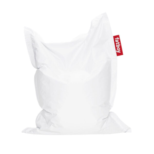 Junior white beanbag by Fatboy