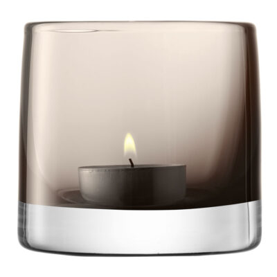 Tealight Holder H8.5cm Mocha by LSA International