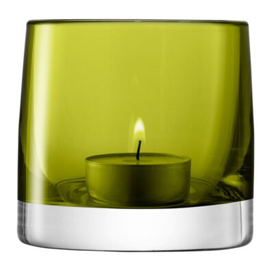Tealight Holder H8.5cm Olive by LSA International