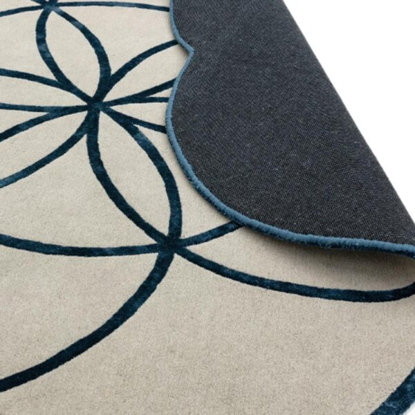 Lotus blue rug by Asiatic Carpets