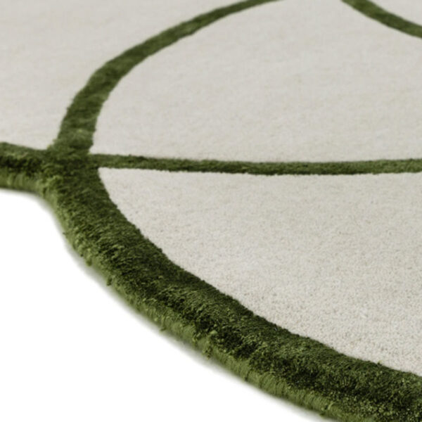 Lotus green rug by Asiatic Carpets