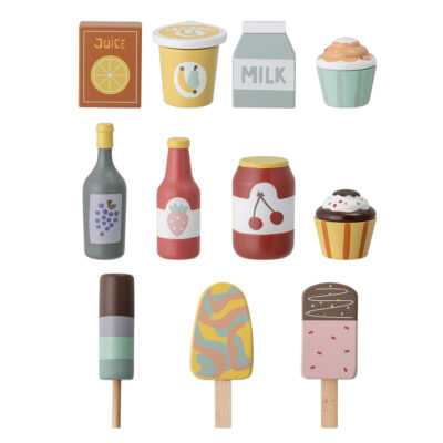 Mini Play food set in wood