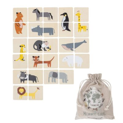 Animals Mini memory game in wood