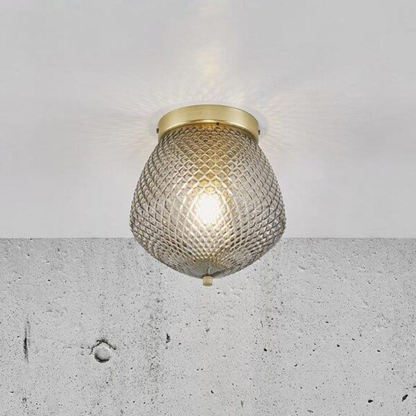 glass Ceiling Light with gold details by Nordlux