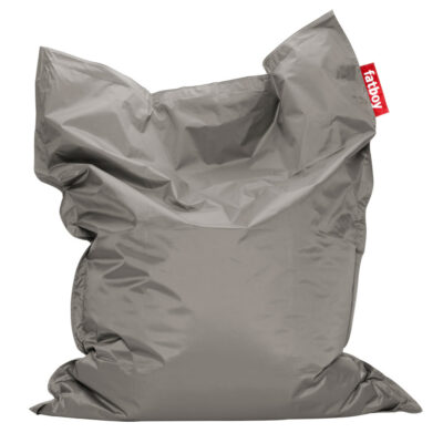 The Original silver Fatboy bean bag