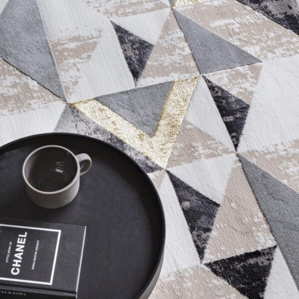 Orion Flag grey rug by Asiatic carpets