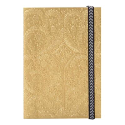 Textured Gold Notebook A5 by Christian Lacroix