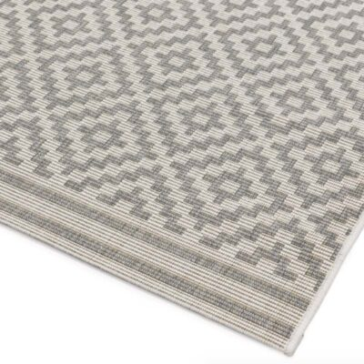 Patio Diamond Grey rug by asiatic carpets