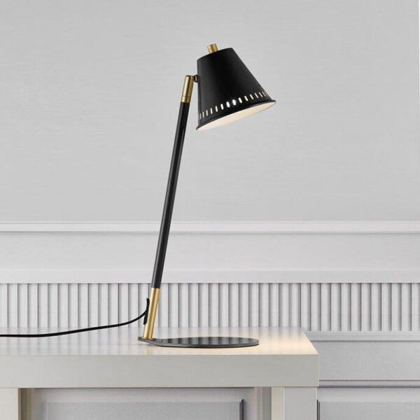 Black Table Lamp with gold details by Nordlux