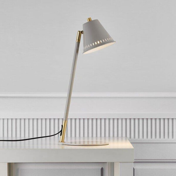 Grey Table Lamp with gold details by Nordlux