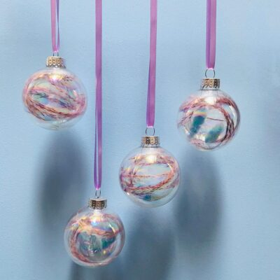 multi coloured Baubles by Honey Bunch