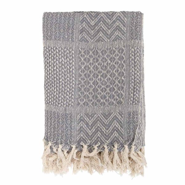 Rodion grey throw by Bloomingville