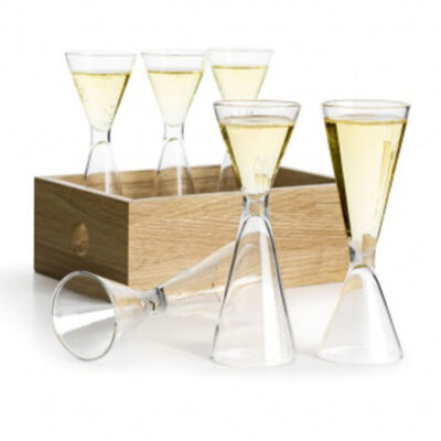 Schnapps glass 6 pcs in storage box