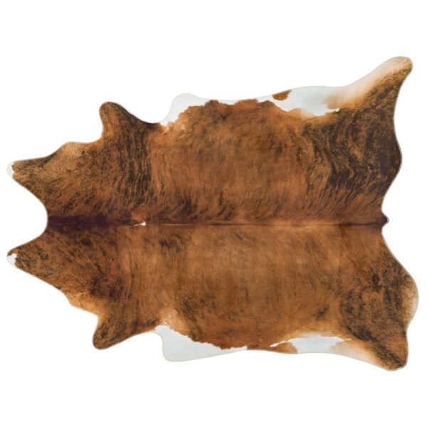 Texas Faux Cowhide Chesnut rug by Asiatic carpets