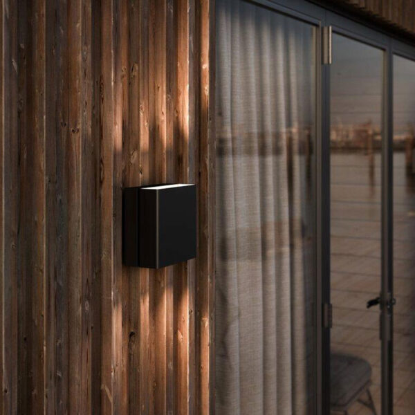 Black Square Wall Light by Nordlux