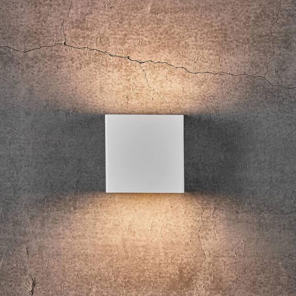 grey Square Wall Light by Nordlux