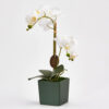 artificial white orchid with pot