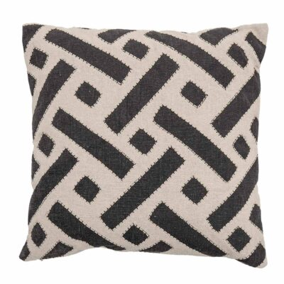 black cotton cushion by Bloomingville
