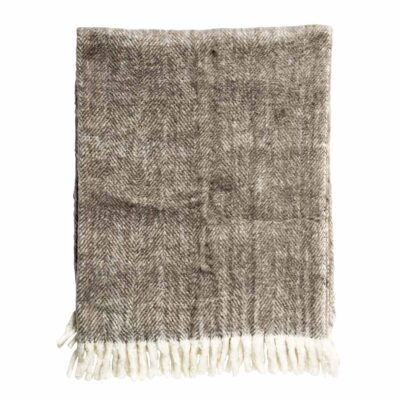 brown wool throw by Bloomingville