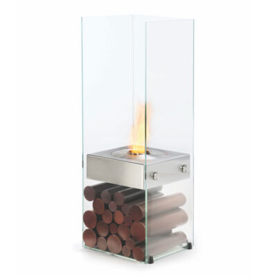 ecosmart fire ghost designer fireplace stainless steel