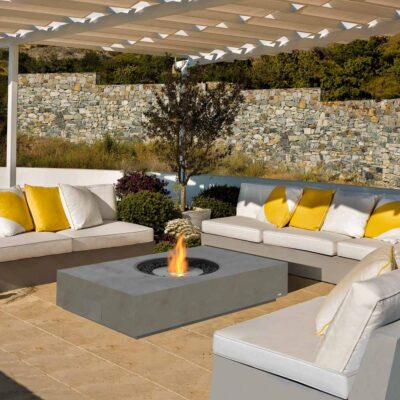 ecosmart fire martini 50 fire pit table grey