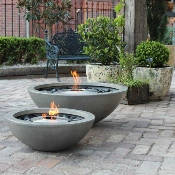 ecosmart fire mix600 fire pit bowl grey