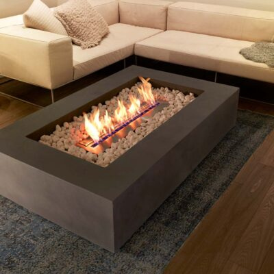 ecosmart fire wharf 65 fire pit table grey
