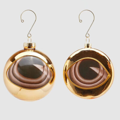 gold baubles eyes set of 2