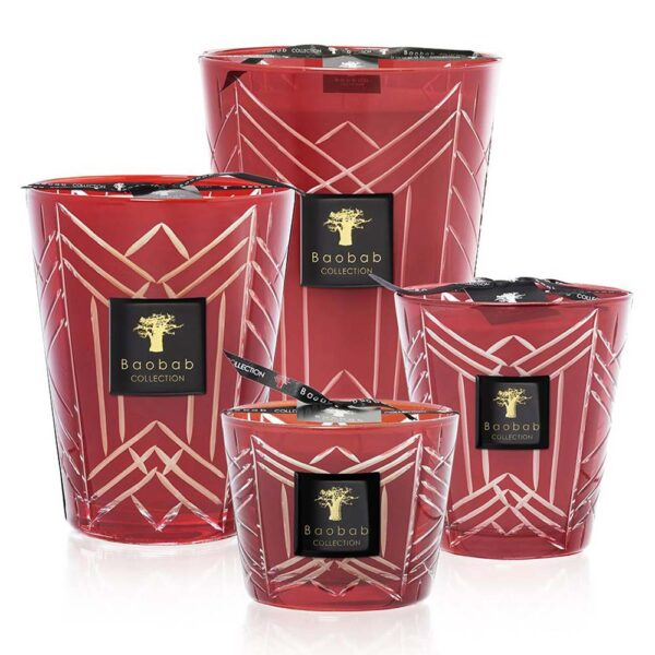Christmas red baobab candle