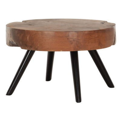 must living wooden coffee table with black legs