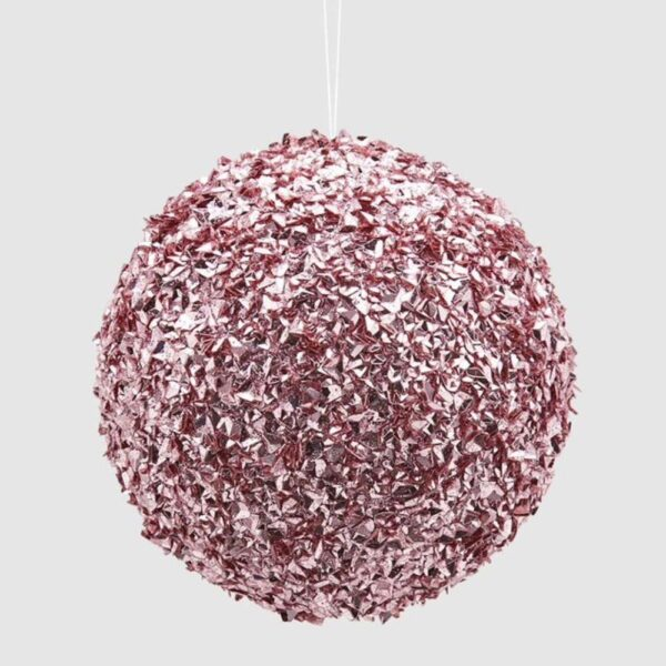 pink glitter bauble by EDG