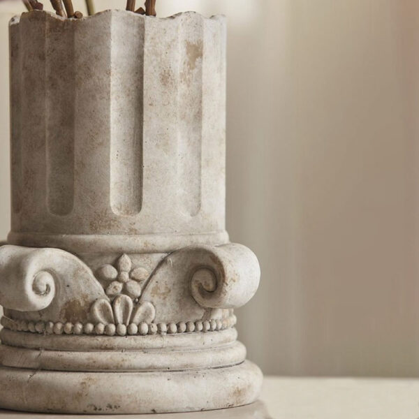 vase concrete half column by EDG
