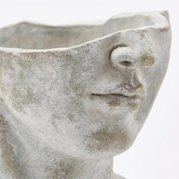 vase concrete half head by EDG