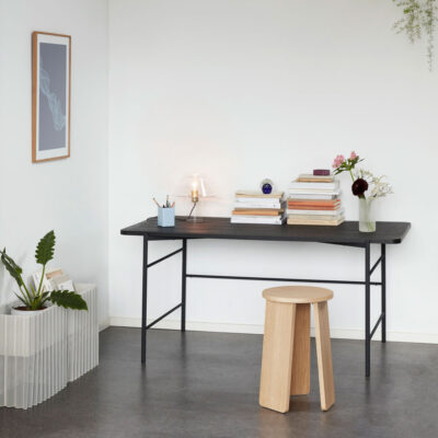 Ash Wood Black Desk by Hubsch
