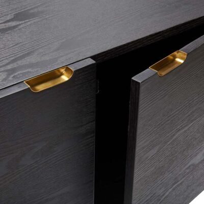 Ash Wood Black Dresser by Hubsch