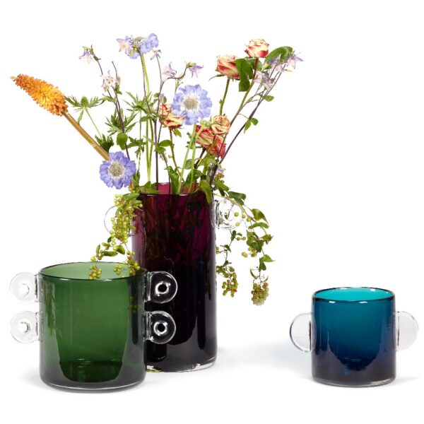 Aubergine Glass Vase by Serax