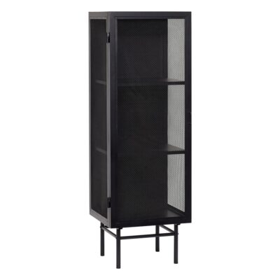 Black Metal Cabinet by Hubsch