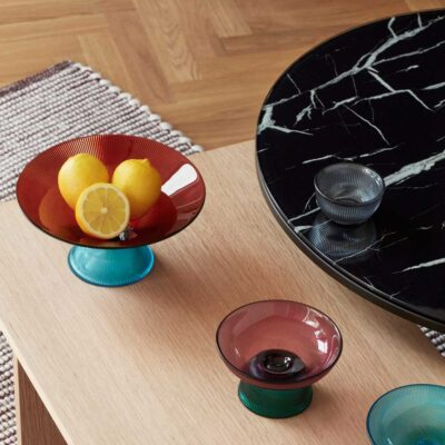 Black Round Coffee Table by Hubsch