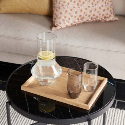 Black Round Coffee Table Small by Hubsch