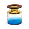 Blue and amber glass vase by Serax