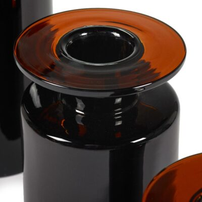 Dark Brown Glass Vase by Serax