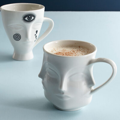 White Face Mug by Jonathan Adler