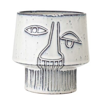 Flowerpot grey stoneware by Bloomingville