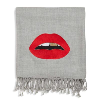 Lips embellished Throw by Jonathan Adler