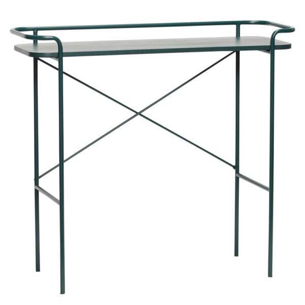 Metal Console Table Green by Hubsch