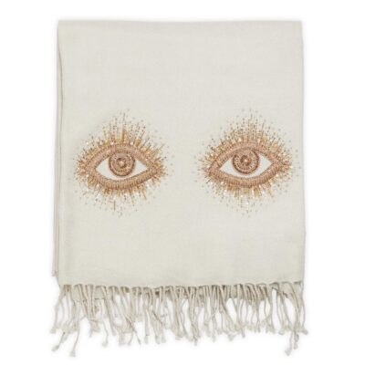 Muse Eyes Embellished throw by Jonathan Adler