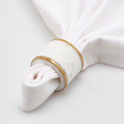 Napkin Ring marble and gold