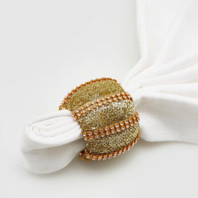 Napkin ring with gems